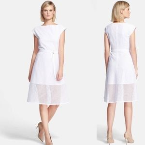 THEORY Afala Eyelet A-Line Dress Size 10